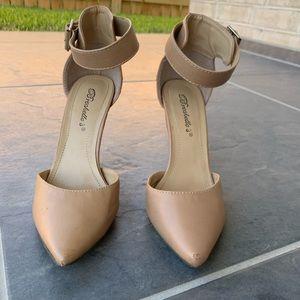 Nude Pointy Heels Pumps 6